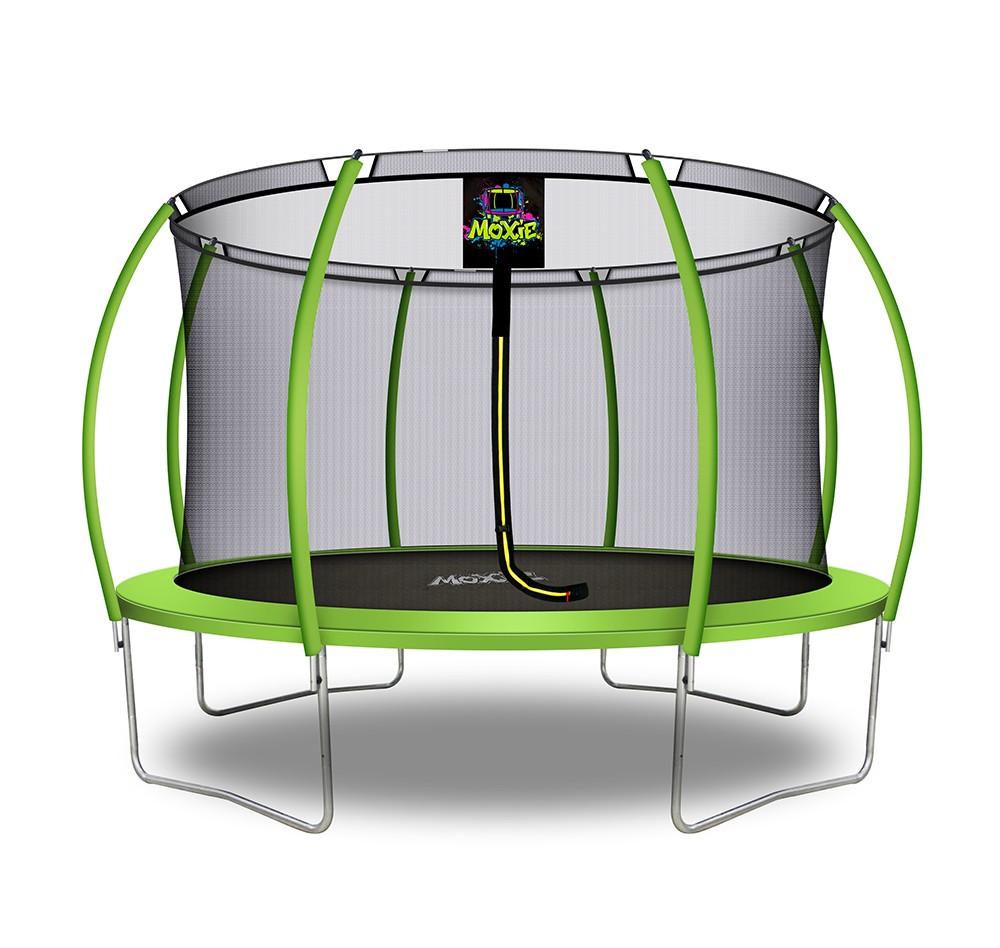 Citruille Trampoline de Jardin et d'Extérieur avec Filet de Sécurité - 366 cm - Vert Pomme   Moxie