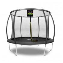 Citruille Trampoline de Jardin et d'Extérieur avec Filet de Sécurité - 305 cm - Noir   Moxie