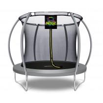 Citruille Trampoline de Jardin et d'Extérieur avec Filet de Sécurité - 244 cm - Gris   Moxie