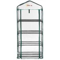 Mini Serre de Balcon Terrasse Jardin | Tente Abri Portable Extérieure | 4 Étagères | 68,6x48,3x 157,5 cm