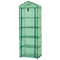 Mini Serre de Balcon Terrasse Jardin | Tente Abri Portable Extérieure | 5 Étagères | 68,6x48,3x 200,7cm