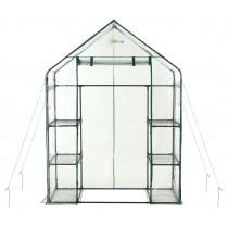 Mini Serre de Jardin | Tente Abri pour Légume, Plantes en PVC Transparent | 6 Étagères | 143 x 73 x 195 x cm