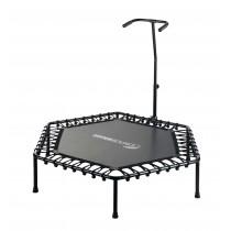Mini Trampoline de Fitness Hexagonal 127 cm avec Poignée pour Sport, Gym, Intérieur | Sans Coussin