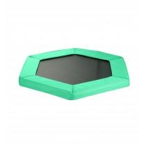 Coussin de Protection et Sécurité de Remplacement pour Mini Trampoline Hexagonal 127 cm - Vert