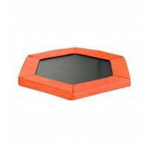 Coussin de Protection et Sécurité de Remplacement pour Mini Trampoline Hexagonal 127 cm - Orange