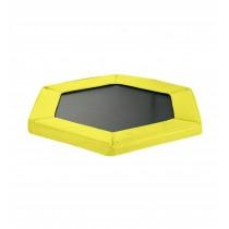 Coussin de Protection et Sécurité de Remplacement pour Mini Trampoline Hexagonal 127 cm - Jaune
