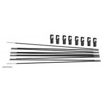 Tiges de Fibre de Verre pour Trampoline de Jardin 457 cm | Arc pour Filet Rond | Capuchons Inclus