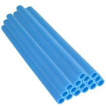 16 Tubes en Mousse 84 x 3,8 cm | Mousses de Perches pour la Protection du Poteaux de Trampoline | Bleu
