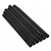 16 Tubes en Mousse 84 x 3,8 cm | Mousses de Perches pour la Protection du Poteaux de Trampoline | Noir