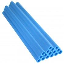 16 Tubes en Mousse 84 x 2,54 cm | Mousses de Perches pour la Protection du Poteaux de Trampoline | Bleu