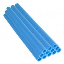 12 Tubes en Mousse 112 x 3,8 cm | Mousses de Perches pour la Protection du Poteaux de Trampoline | Bleu