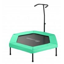 Mini Trampoline de Fitness Hexagonal 127 cm avec Poignée pour Sport, Gym, Intérieur | Vert