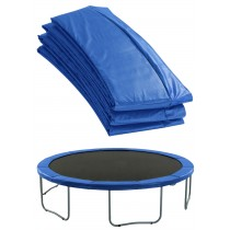 Coussin Épais de Protection et Sécurité | Couvre Ressorts de Remplacement pour Trampoline Rond 244 cm | Bleu