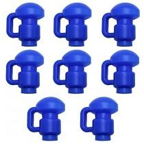 8 Capuchons en C de Poteaux de Filet pour Trampoline de Jardin - 2,54 cm 1 pouce