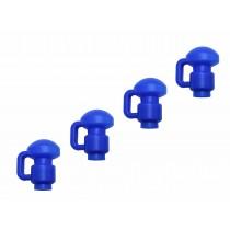 4 Capuchons en C de Poteaux de Filet pour Trampoline de Jardin - 3,8 cm 1,5 pouces