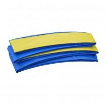Coussin de Protection et Sécurité Couvre Ressorts Remplacement pour Trampoline Rectangulaire 457 x 274 cm   Bleu Jaune