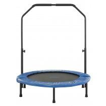 Mini Trampoline de Fitness 101 cm pour Sport, Gym, Intérieur | Pliable avec Poignée