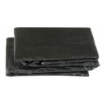 Bâche de Protection pour Trampoline Rectangulair 427 x 244 cm | Housse de Protection pour la Pluie, UV Impérméable | Noir