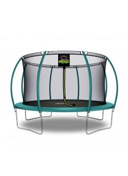 Moxie Citruille Trampoline de Jardin et d'Extérieur avec Filet de Sécurité - 427 cm - Vert Foncé | Moxie