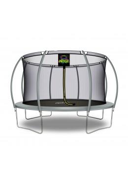 Citruille Trampoline de Jardin et d'Extérieur avec Filet de Sécurité - 427 cm - Gris | Moxie