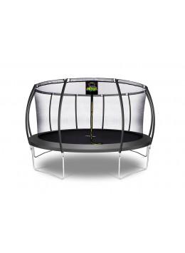Citruille Trampoline de Jardin et d'Extérieur avec Filet de Sécurité - 457 cm - Noir | Moxie