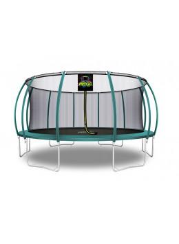 Citruille Trampoline de Jardin et d'Extérieur avec Filet de Sécurité - 488 cm - Vert Foncé | Moxie